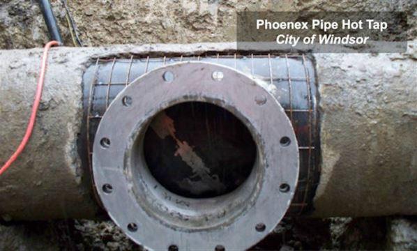 Hot taps tapping pipe repairs watermain